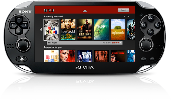PS Vita System Netflix Application