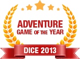 Dice 2013 -Adventure Game of the Year